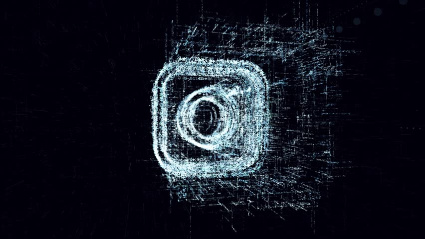 Digital News animation sign photo. Abstract camera consisting of program code in electronic space | Shutterstock HD Video #1010693555