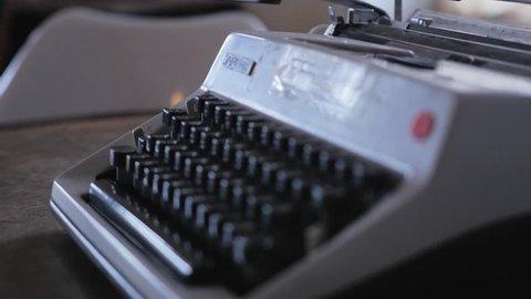 Old vintage typewriter.