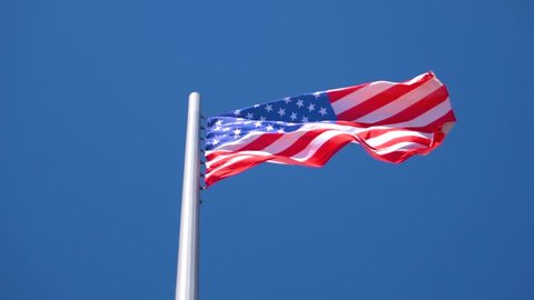 American Flag Waving Slow Motion