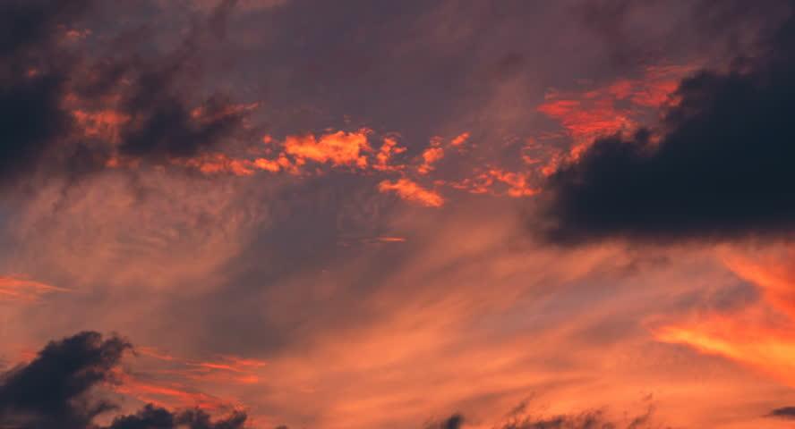 4K Time lapse sunset sky background | Shutterstock HD Video #1010858315