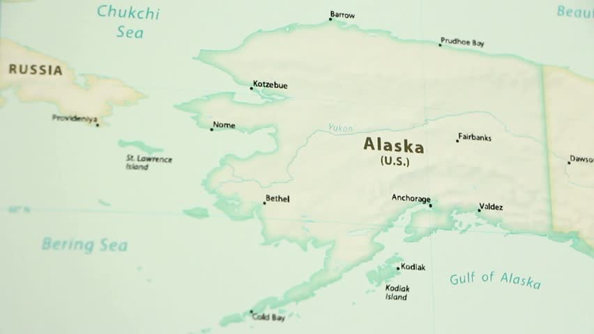 Political Map Of Alaska.Alaska On A Political Map Stock Footage Video 100 Royalty Free