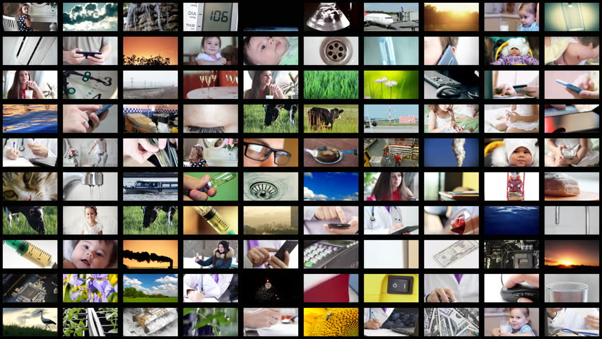 8K Animation of video wall media streaming. | Shutterstock HD Video #1010962145