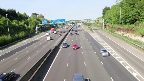 M25 Motorway, Junction 17, Chorleywood, Hertfordshire, UK