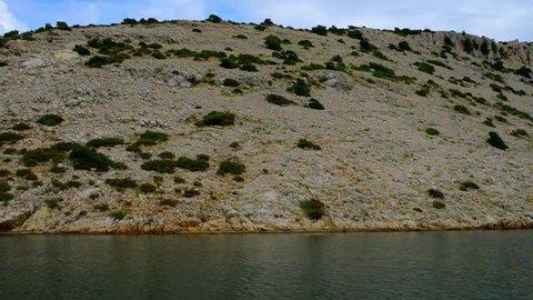 Mouth of river Zrmanja. Zrmanja is river in southern Lika and northern Dalmatia, Croatia. Zrmanja flows into Adriatic sea in bay named Novigradsko more.