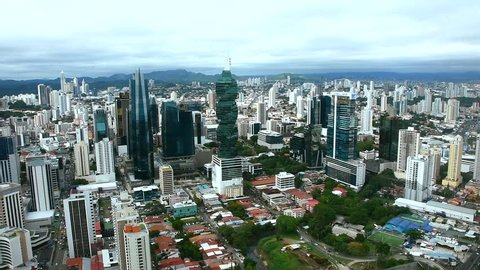 Panama City Skyline view of central business district of Panama city, Central America