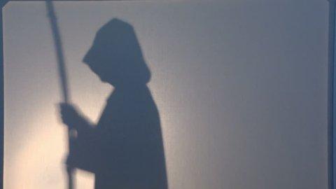 Monk. A mysterious Catholic monk .
