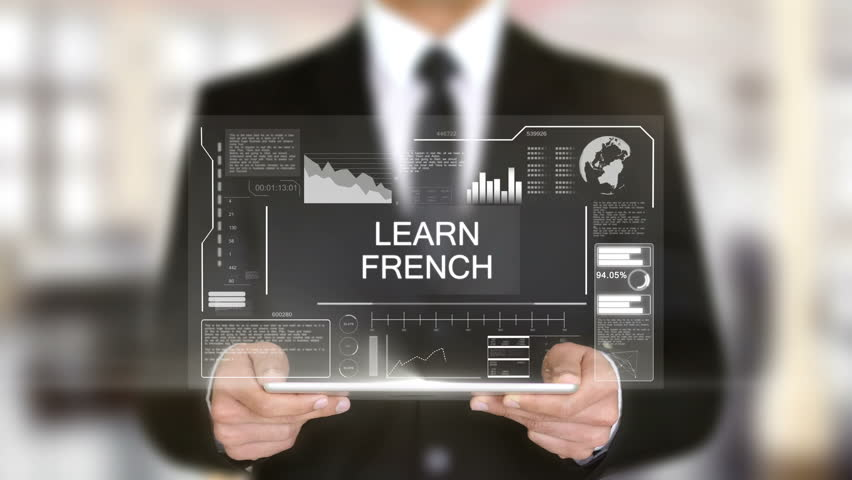 Learn French, Businessman with Hologram concept | Shutterstock HD Video #1011267515
