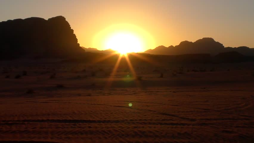 Beautiful view of Wadi Rum desert in Hashemite Kingdom of Jordan, also known as The Valley of Moon