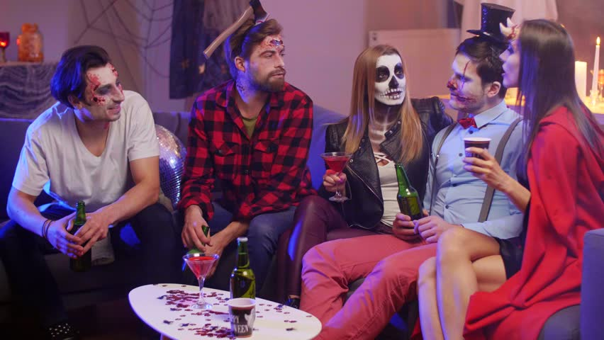 Group of friends having great night party | Shutterstock HD Video #1011325565