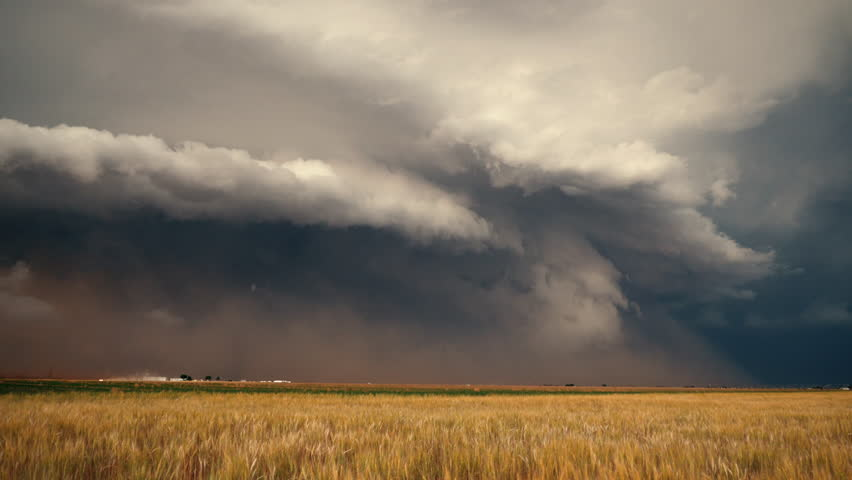 A Supercell Advances Across Tornado Alley | Shutterstock HD Video #1011334445