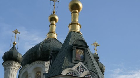 The Golden Dome of the Orthodox Church in Foros, Crimea