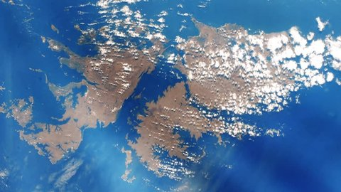 Falkland Islands From Space (Islas Malvinas). Elements of this image furnished by NASA.