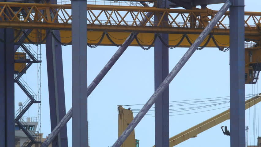 Time lapse container port. Detail of cranes in Palermo | Shutterstock HD Video #1011416045