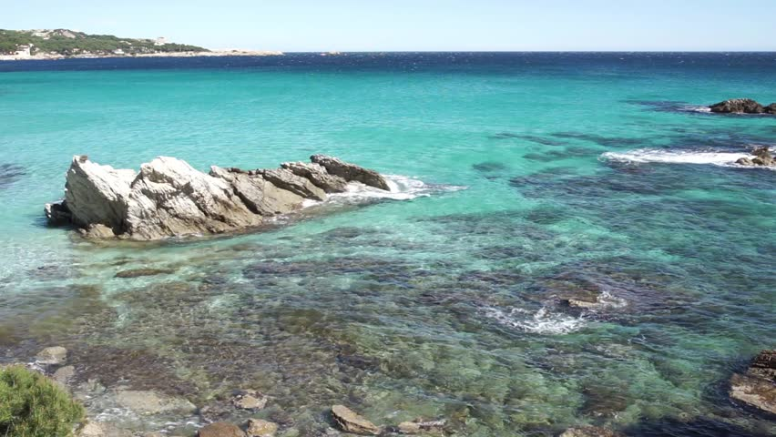 View of soft waves at turquoise colored sea water | Shutterstock HD Video #1011483125