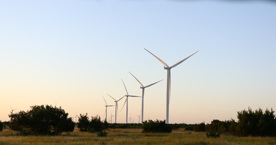 Wind Turbines near Bronte / Abilene Texas. | Shutterstock HD Video #1011759125