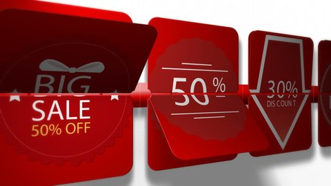 57751afd7 Sales promotional animation video with the inscription 30 percent s discount.  Big sale