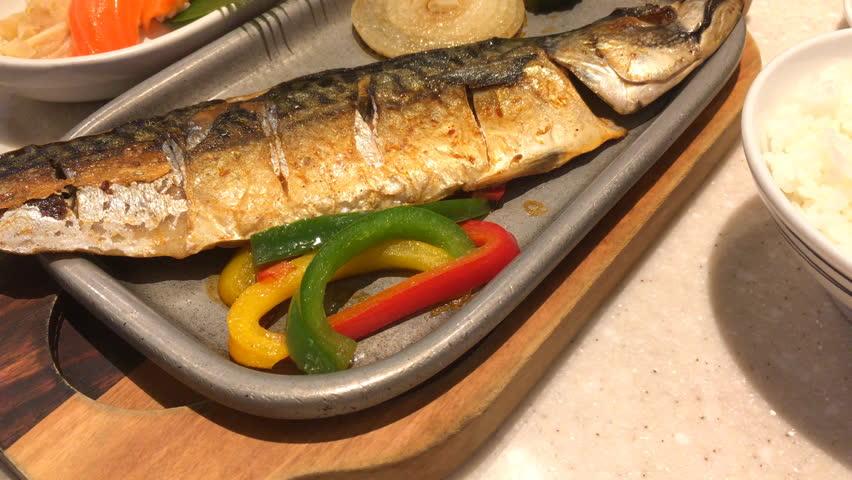 Saba Steak in japanese restaurant | Shutterstock HD Video #1011805865