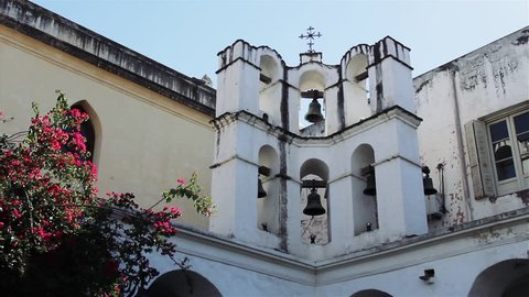 Old Bell Tower in a Catholic Monastery.