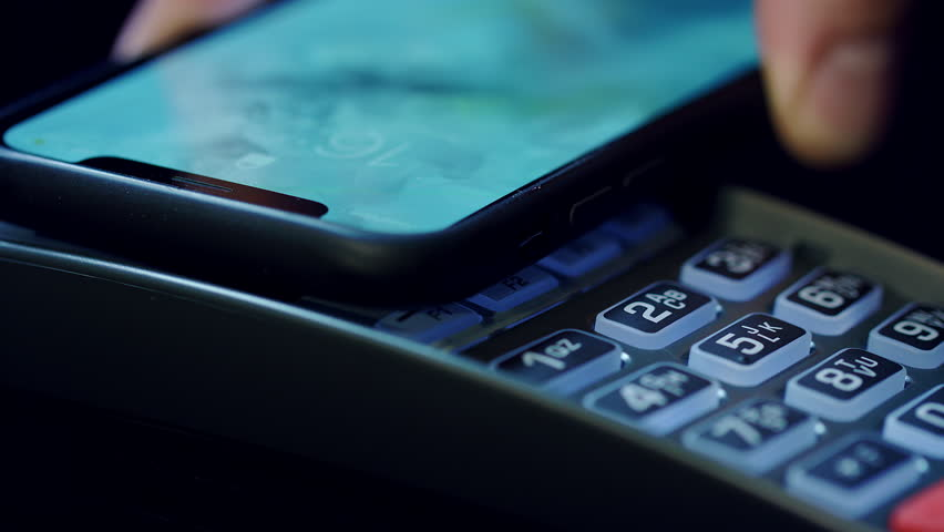 Mobile Nfc Payment  Hand of Stock Footage Video (100