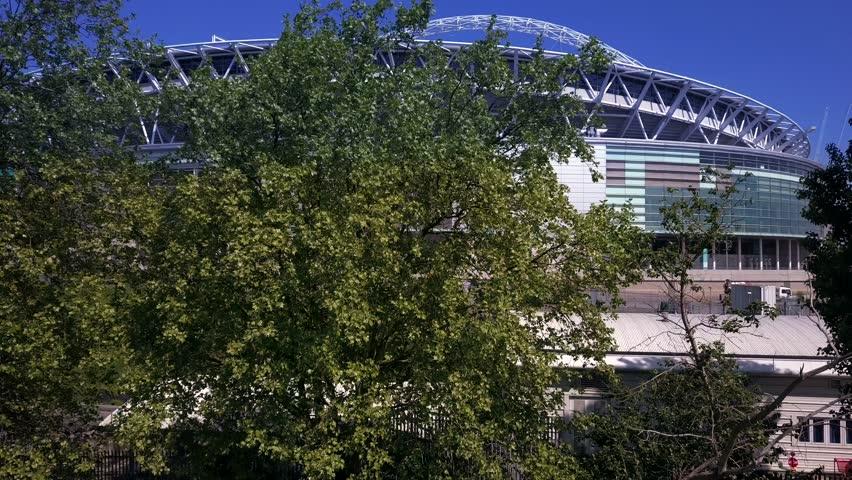 LONDON, UK -2017: Aerial view of Wembley Stadium.