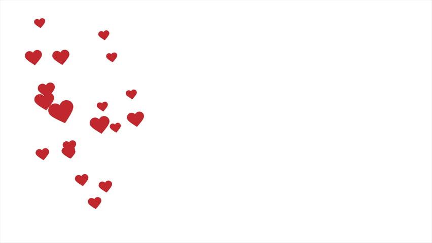 Flying hearts animation with optional luma matte. Alpha Luma Matte included. 4k video