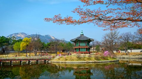 Hyangwonjeong Pavilion in Gyeongbokgung Palace, Seoul