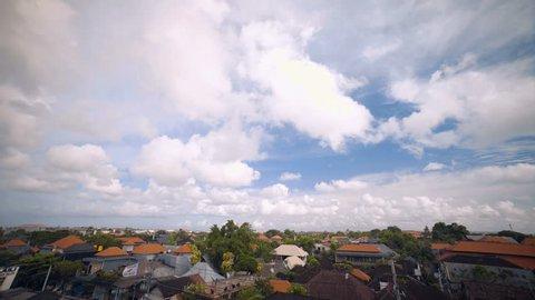 Bali Seminyak roofs and sky timelapse