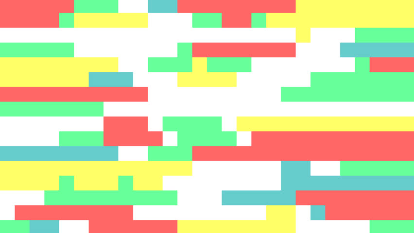 Pastel glitch animation. Concept of tetris game.