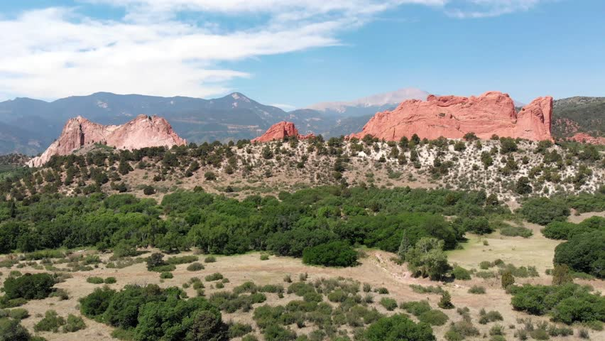 Aerial Drone Video of Garden of The Gods in Colorado Springs CO
