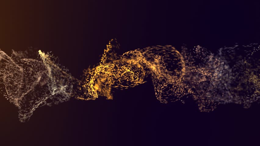 Colorful Particles dots moving with depth of field | Shutterstock HD Video #1012309475