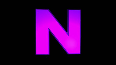 "Rotating Roman Letter ""N"". Animated icon with alpha channel"