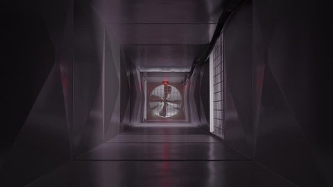 Inside air vent air duct air shaft ventilation system action film escape 4k