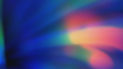 Colourful play of light passing through a prism.