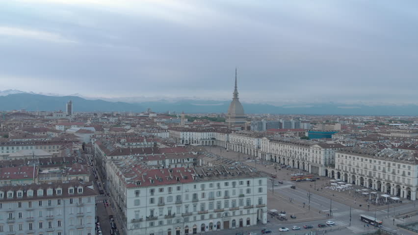Aerial view of Turin, Italy | Shutterstock HD Video #1012634915
