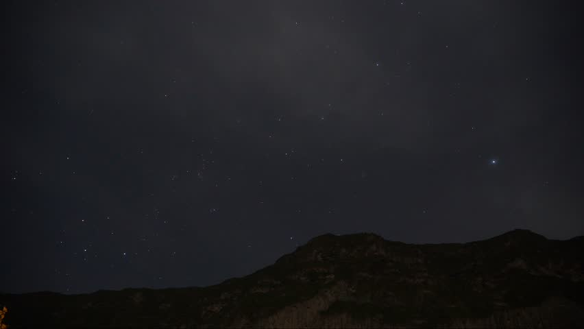 Colca Canyon Peru Near Arequipa during the night Timelapse
