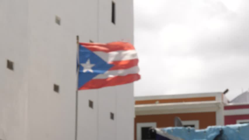 Puerto Rico's Flag after Hurricane Maria