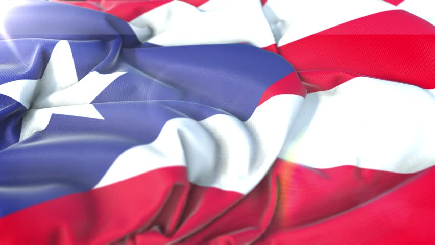Puerto Rico flag.Flag of Puerto Rico Beautiful 3d animation of Puerto Rico flag in loop mode.
