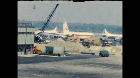 NEW YORK CITY/USA - CIRCA 1959: Scenes from later JFK Airport Idlewild, New York City.