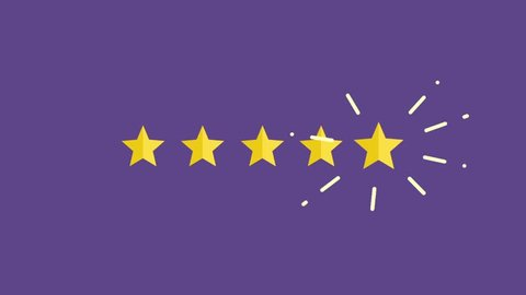 Five Rating Star Product Quality. Customer review, Usability Evaluation,  Feedback.