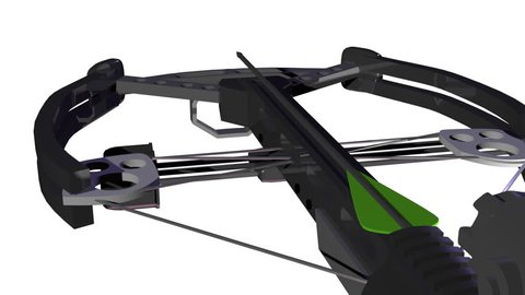 Firing a crossbow CGI