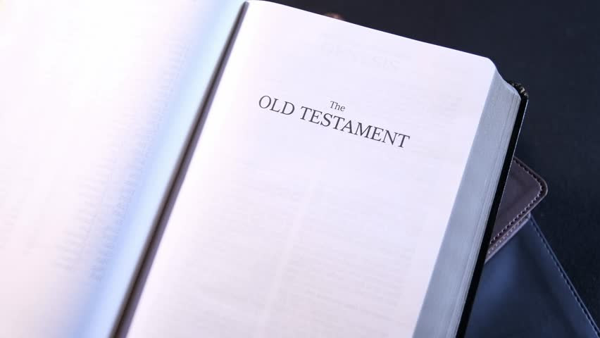 The Old Testament Title Page in the Holy Bible 01 | Shutterstock HD Video #1012948595