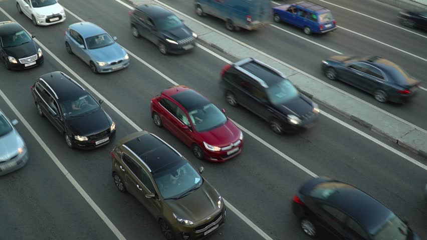 Huge Car Traffic on a City Highway Timelapse Motion | Shutterstock HD Video #1013063075