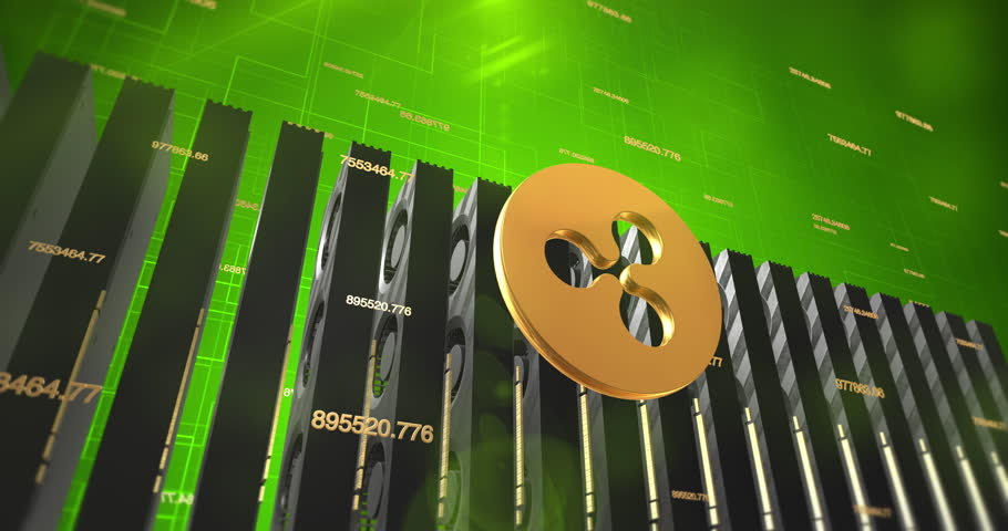 Ripple Digital Crypto Currency Mining With Graphic Cards - 4K 3D Animation | Shutterstock HD Video #1013077955