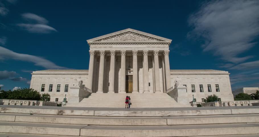 Timelapse of Supreme Court in Washington DC