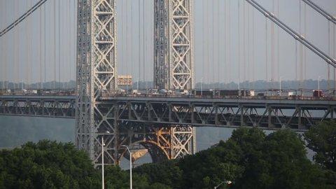 George Washington Bridge NYC With Trees