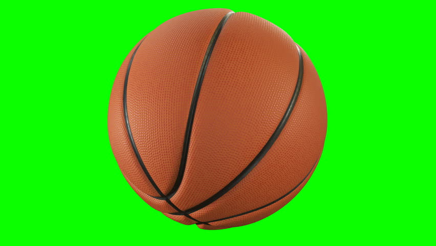 Set of 4 Videos. Beautiful Basketball Ball Throws in Slow Motion on Green Screen. Basketball 3d Animations of Flying Ball. 4k UHD 3840x2160. #1013159705