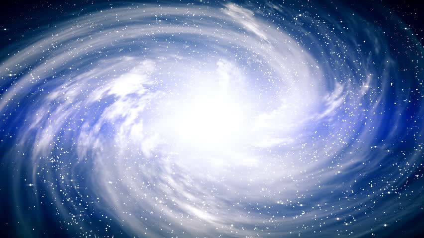 A beautiful space scene with a rotating galaxy #1013273735