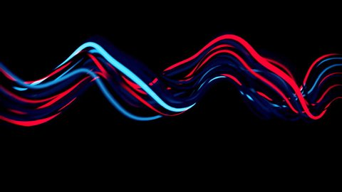4K Abstract Neon Wavy Lines.