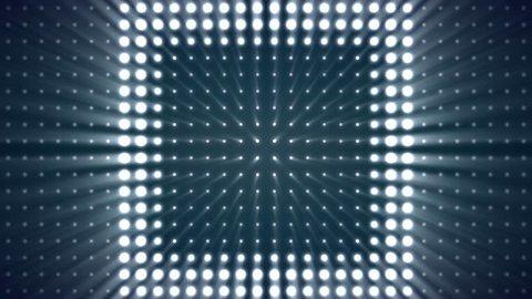 Strobe Lights Flashing Background Vj Loop Blue Lights Board Wall of Lights. Box Lights Wall Loop Background Pattern