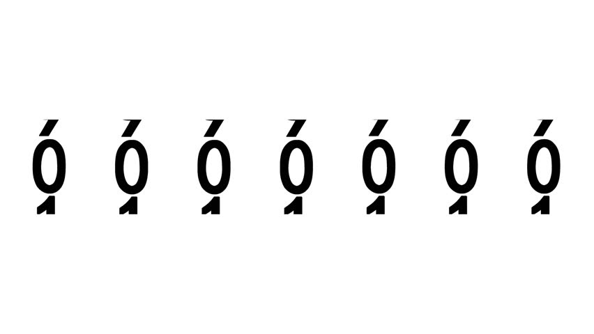 Black numbers of the counter on white background displays one million, 3d animation. | Shutterstock HD Video #1013431925